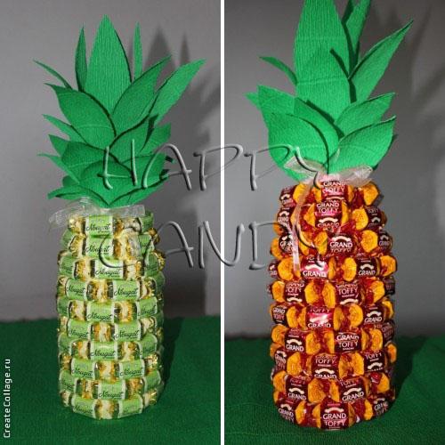 Как сделать ананас из бутылки своими руками
