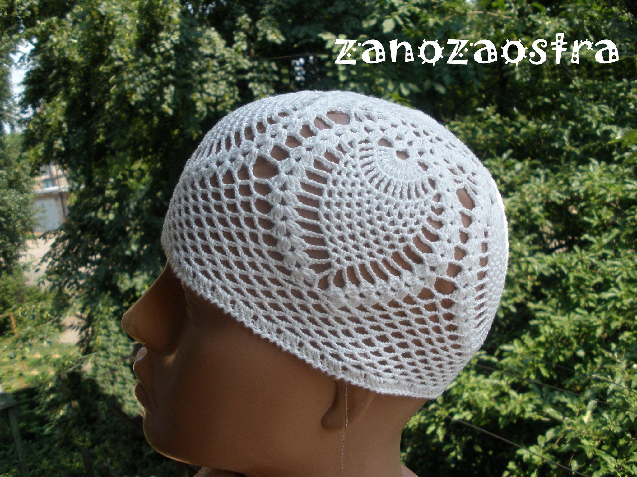 Вязание крючком женские шапочки летней 605