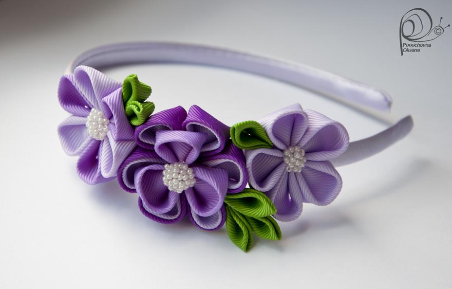 Заколки своими руками: бантики, цветы из атласных лент, декор