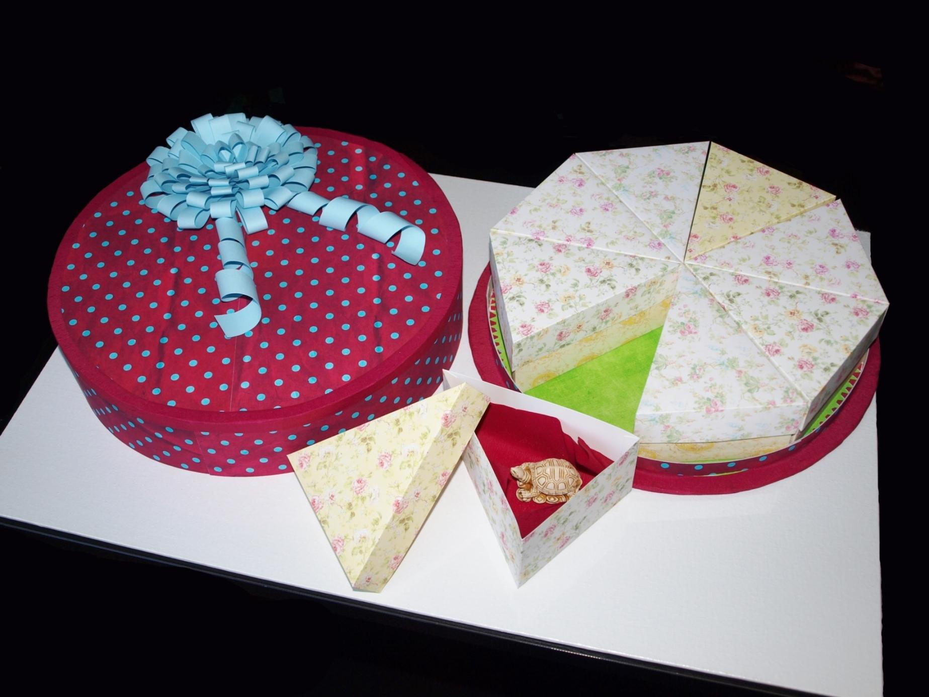 Торт из бумаги с сюрпризом своими руками 1