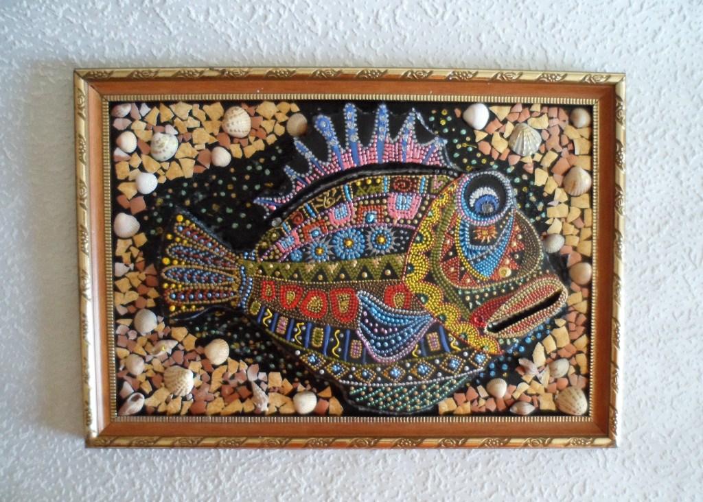 Рыбка из ракушек своими руками 58