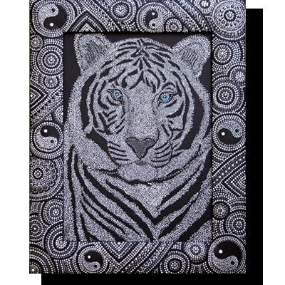 Тигр для точечной росписи