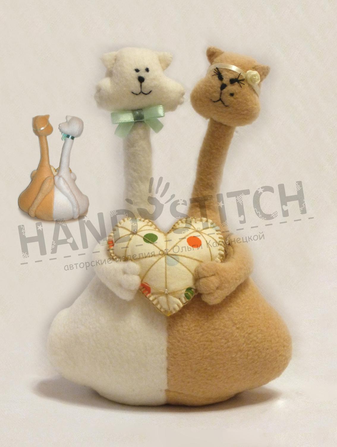 Интерьерные игрушки своими руками коты